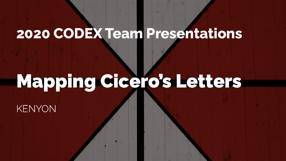 Thumbnail for the CODEX project Mapping Cicero's Letters